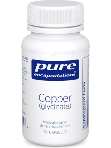 Pure Encapsulations, Copper (glycinate), 2 mg, 60 vcaps