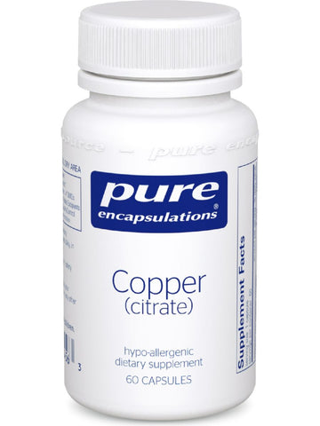 Pure Encapsulations, Copper (citrate), 60 vcaps