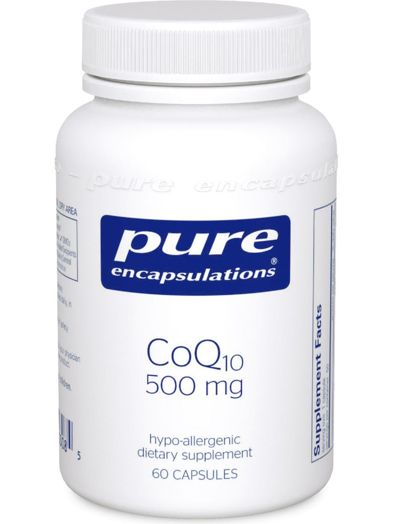 Pure Encapsulations, CoQ10, 500 mg, 60 vcaps