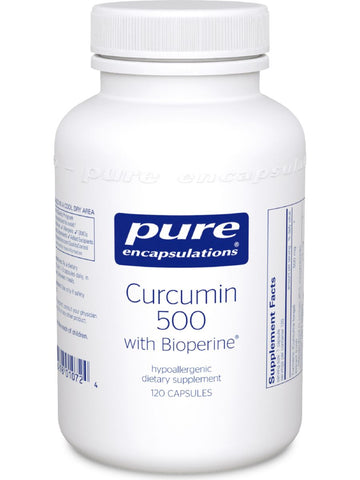 Pure Encapsulations, Curcumin 500 with Bioperine, 120 vcaps