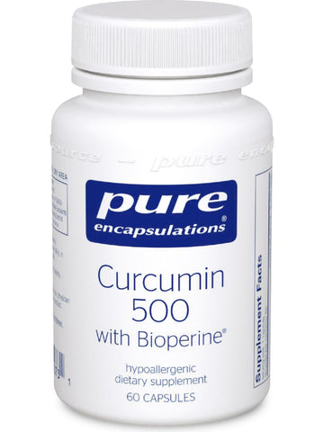 Pure Encapsulations, Curcumin 500 with Bioperine, 60 vcaps