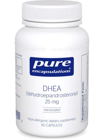 Pure Encapsulations, DHEA (micronized), 25 mg, 60 vcaps