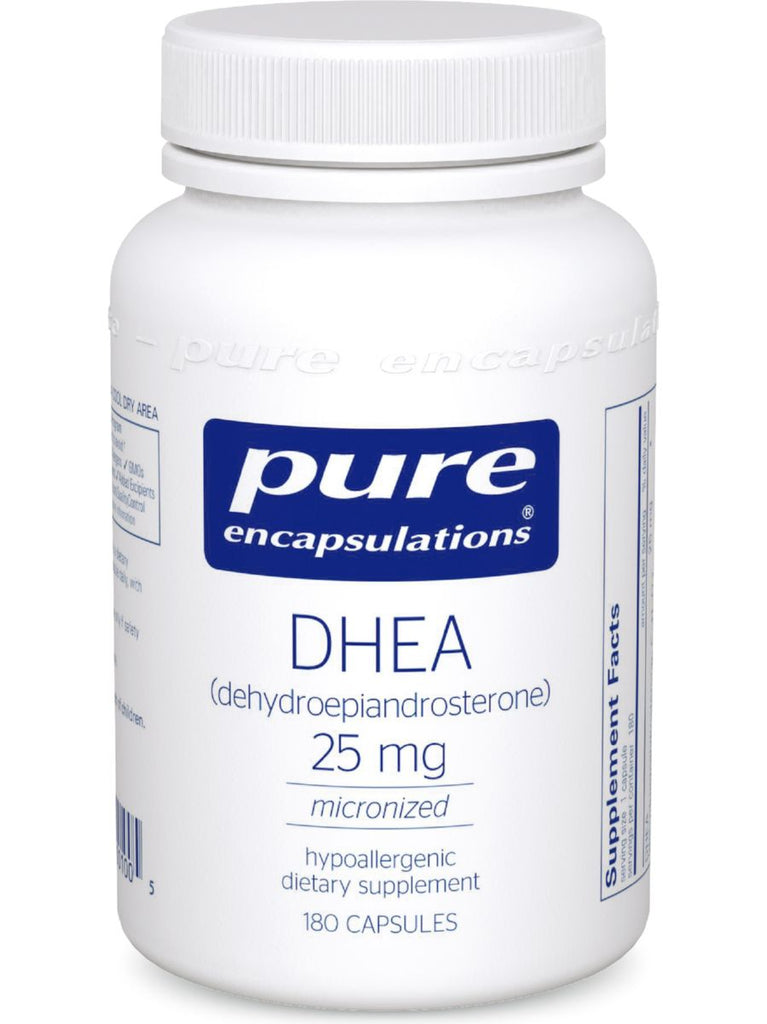 Pure Encapsulations, DHEA (micronized), 25 mg, 180 vcaps