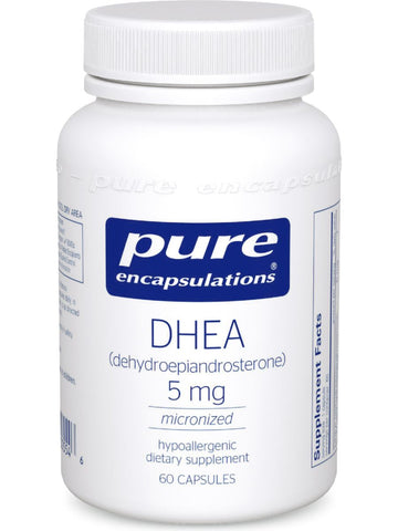 Pure Encapsulations, DHEA (micronized), 5 mg, 60 vcaps