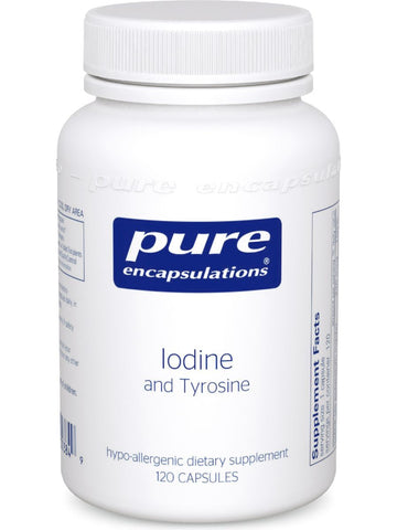Pure Encapsulations, Iodine and Tyrosine, 120 vcaps