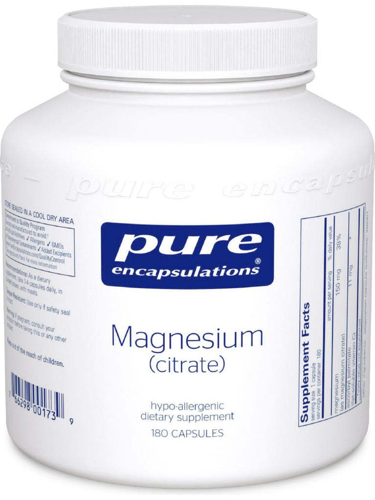 Pure Encapsulations, Magnesium (citrate), 150 mg, 180 vcaps