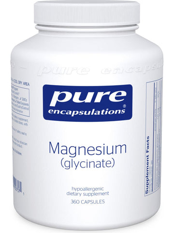 Pure Encapsulations, Magnesium (glycinate), 120 mg, 360 vcaps