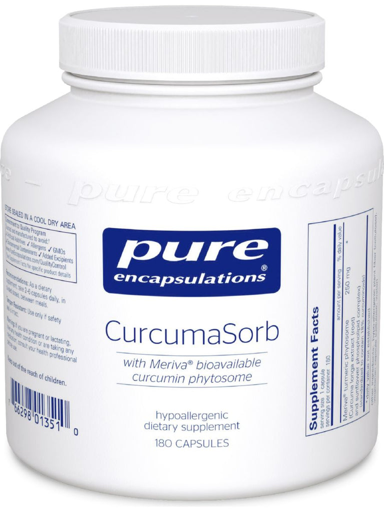 Pure Encapsulations, CurcumaSorb (Meriva), 180 caps
