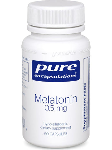 Pure Encapsulations, Melatonin, 0.5 mg, 60 vcaps