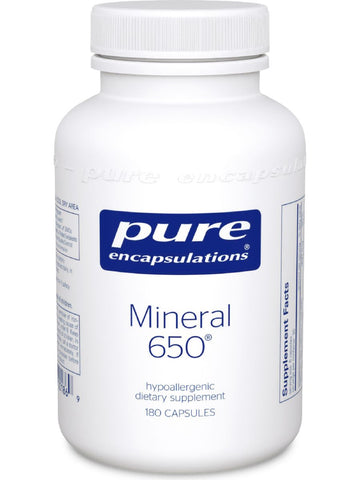 Pure Encapsulations, Mineral 650, 180 vcaps