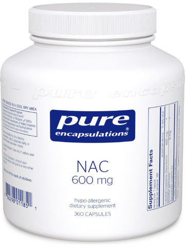 Pure Encapsulations, NAC, 600 mg, 360 caps