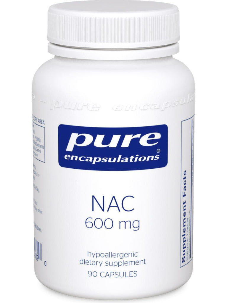 Pure Encapsulations, NAC, 600 mg, 90 vcaps