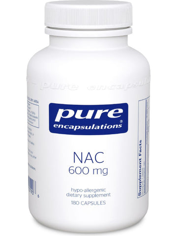 Pure Encapsulations, NAC, 600 mg, 180 vcaps