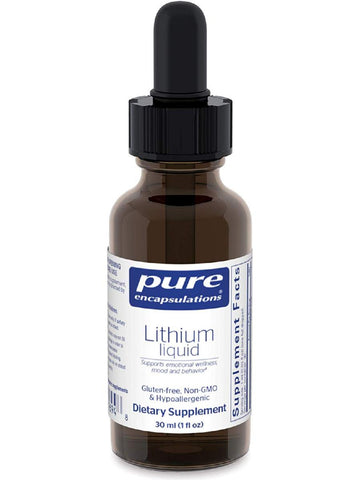 Pure Encapsulations, Lithium Liquid, 30 ml