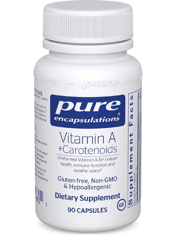 Pure Encapsulations, Vitamin A + Carotenoids, 90 caps