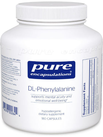 Pure Encapsulations, DL-Phenylalanine, 500 mg, 180 vcaps
