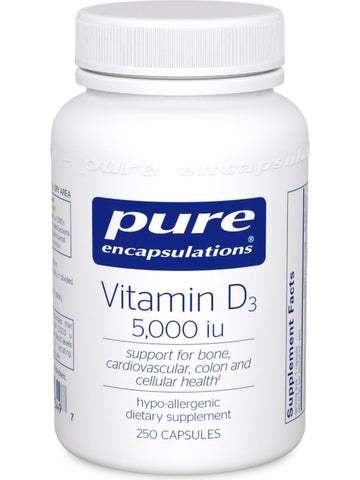 Pure Encapsulations, Vitamin D3 5000 IU, 250 vcaps
