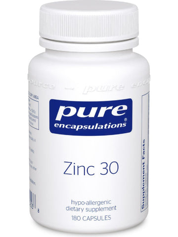 Pure Encapsulations, Zinc 30, 180 vcaps