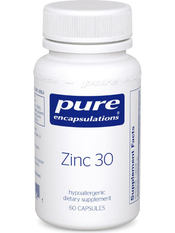 Pure Encapsulations, Zinc 30, 60 vcaps