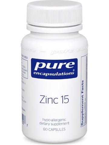 Pure Encapsulations, Zinc 15, 60 vcaps