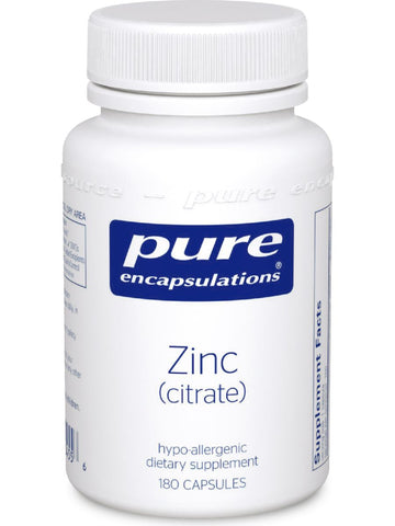 Pure Encapsulations, Zinc (citrate), 180 vcaps