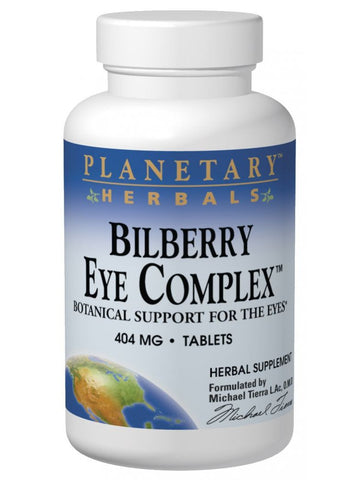 Planetary Herbals, Bilberry Eye Complex, 60 ct