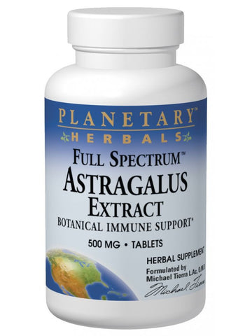 Planetary Herbals, Astragalus Extract 500mg Full Spectrum, 60 ct