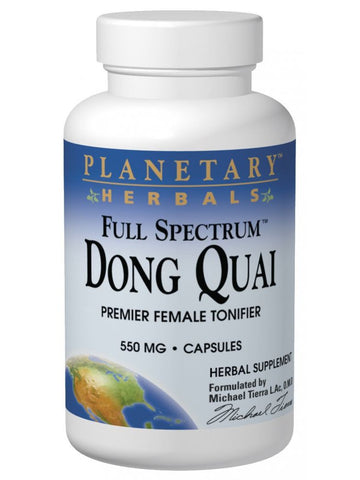 Planetary Herbals, Dong Quai Full Spectrum 550mg, 60 ct