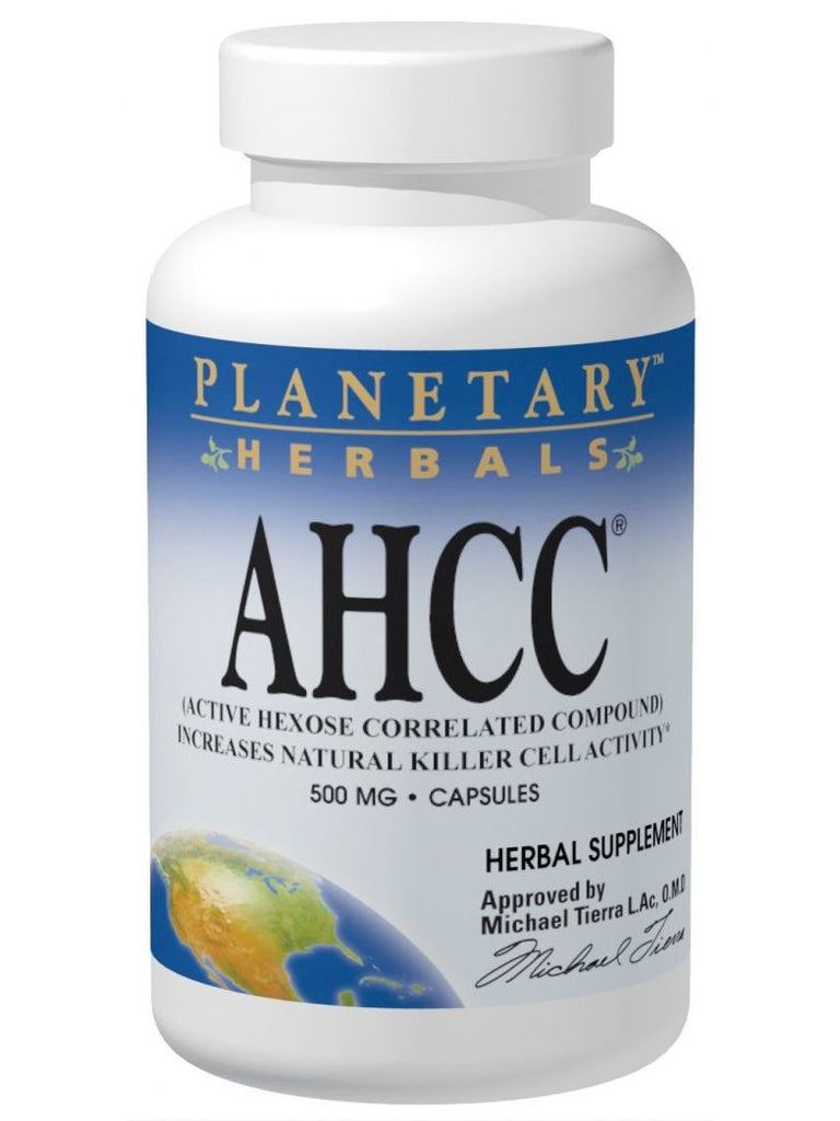 Planetary Herbals, AHCC Active Hexose Correlated Compound 500mg, 60 ct