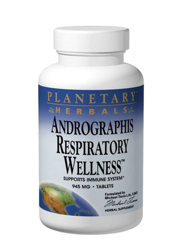 Planetary Herbals, Andrographis Respiratory Wellness, 120 ct