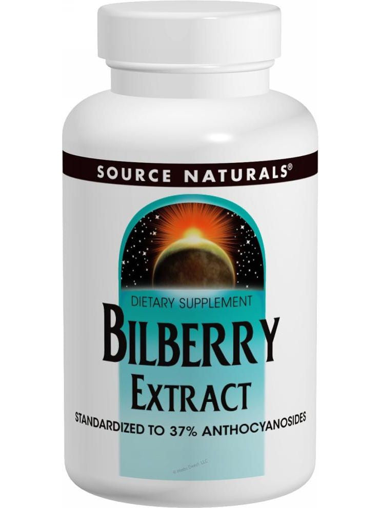Source Naturals, Bilberry Extract, 100mg, 30 ct