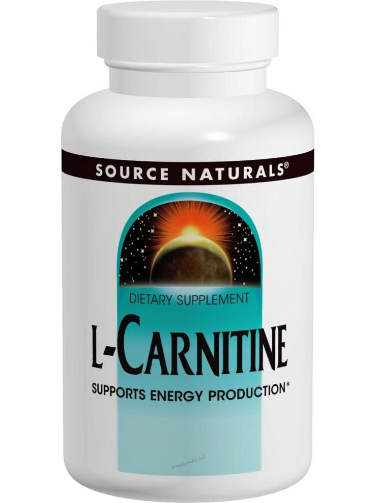 Source Naturals, L-Carnitine (tartrate), 250mg, 60 ct