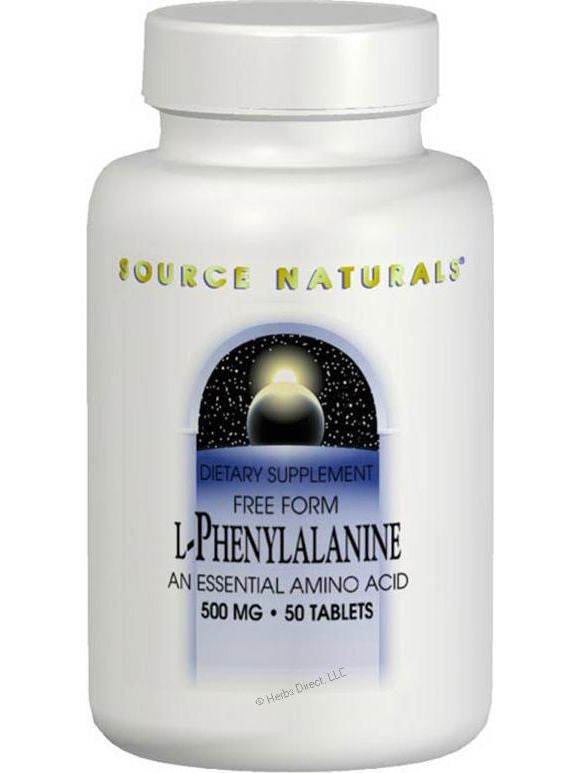 Source Naturals, L-Phenylalanine powder, 100 GM