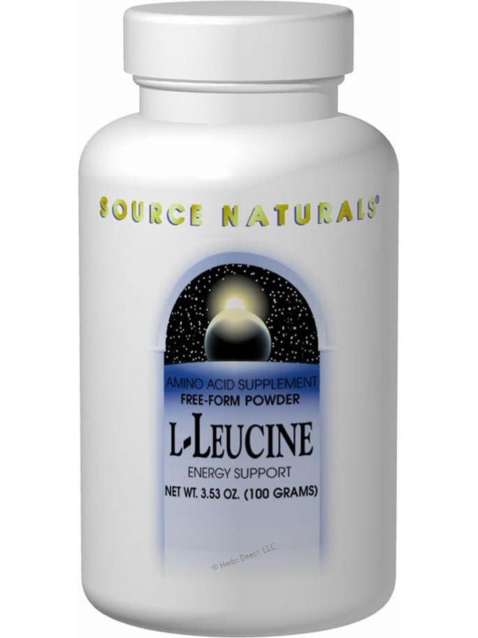 Source Naturals, L-Leucine powder 100 gm, 100 powder