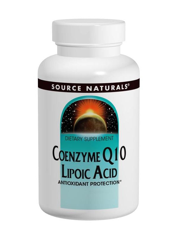 Source Naturals, Coenzyme Q10, 30mg/Lipoic Acid 30mg, 30 ct