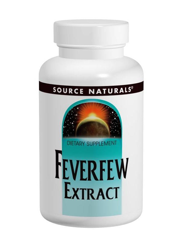Source Naturals, Feverfew, 200mg Ext + 50mg Whole Herb, 100 ct