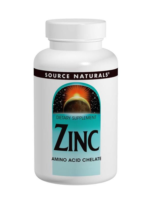 Source Naturals, Zinc Chelate, 50mg elemental, 250 ct