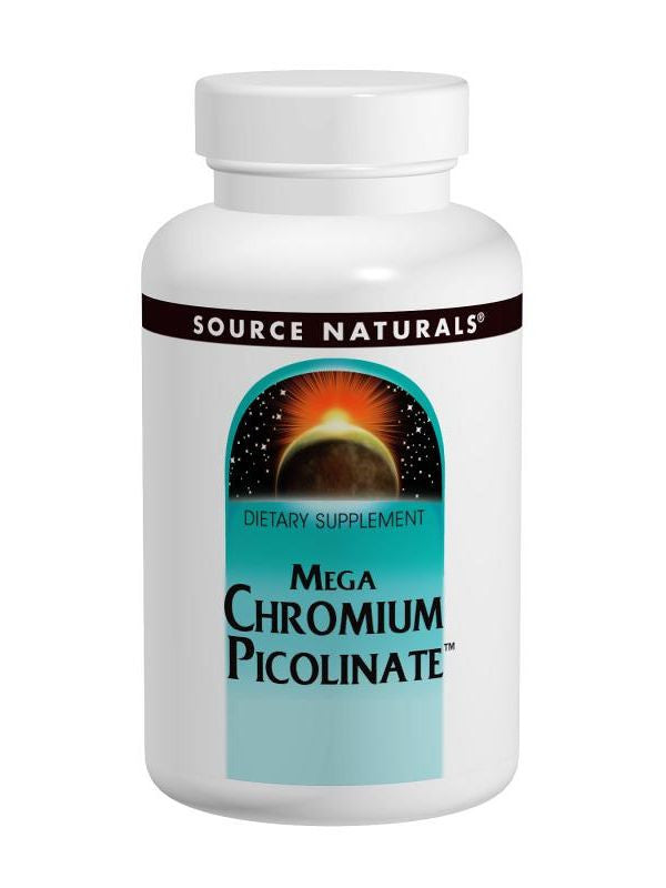 Source Naturals, Mega Chromium Picolinate 300mcg, 120 ct