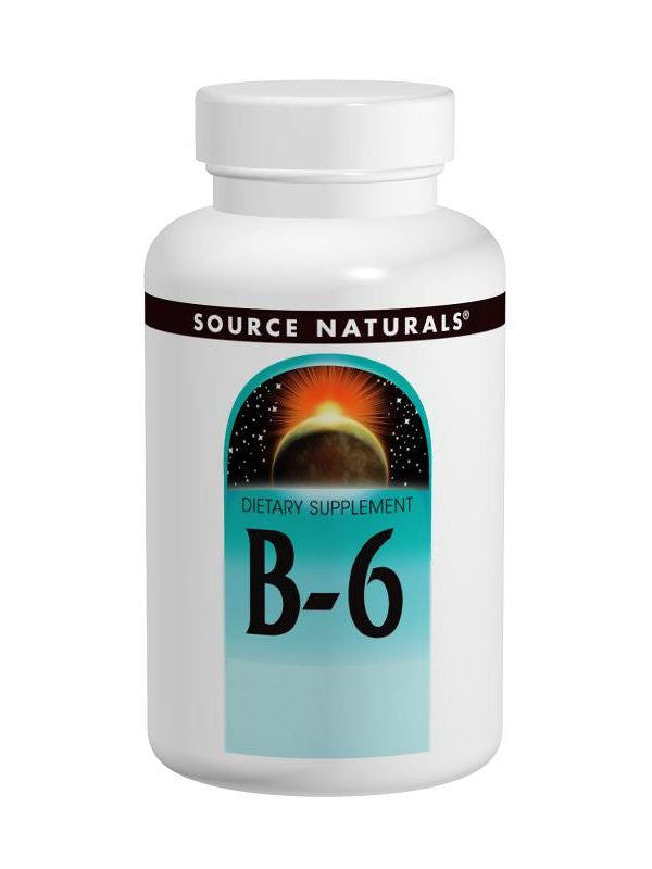 Source Naturals, Vitamin B-6 Pyridoxine, 500mg Timed Release, 100 ct