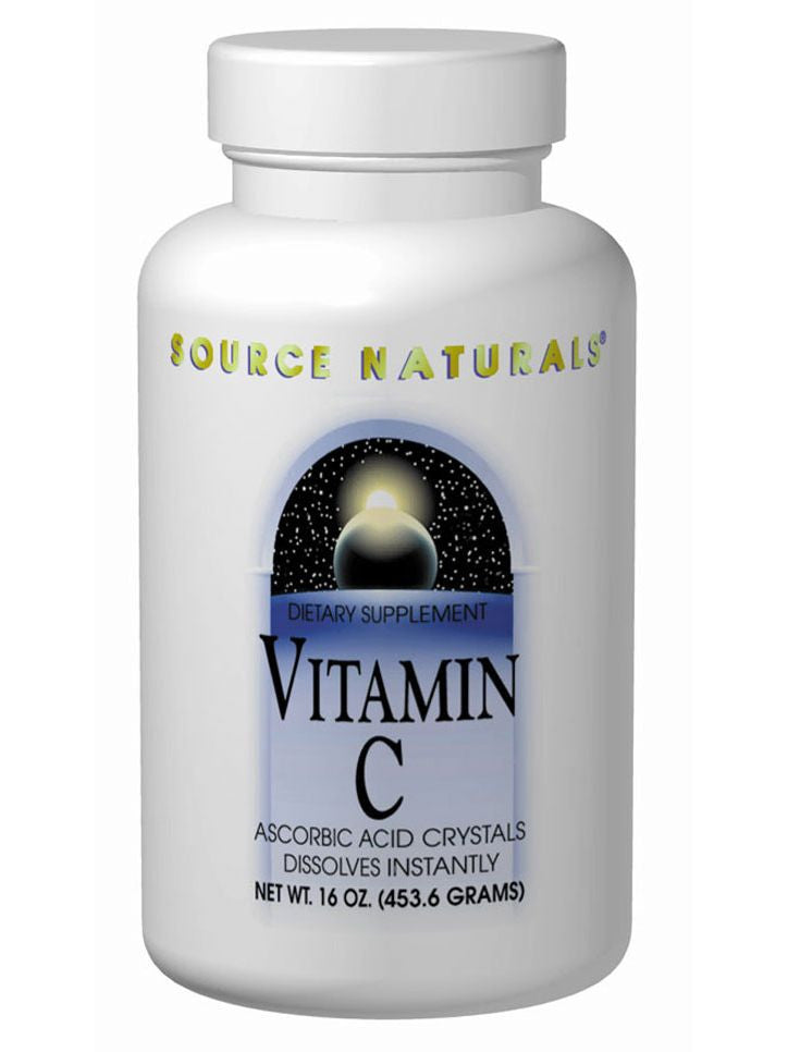 Source Naturals, Vitamin C Ascorbic Acid Crystals, 16 oz
