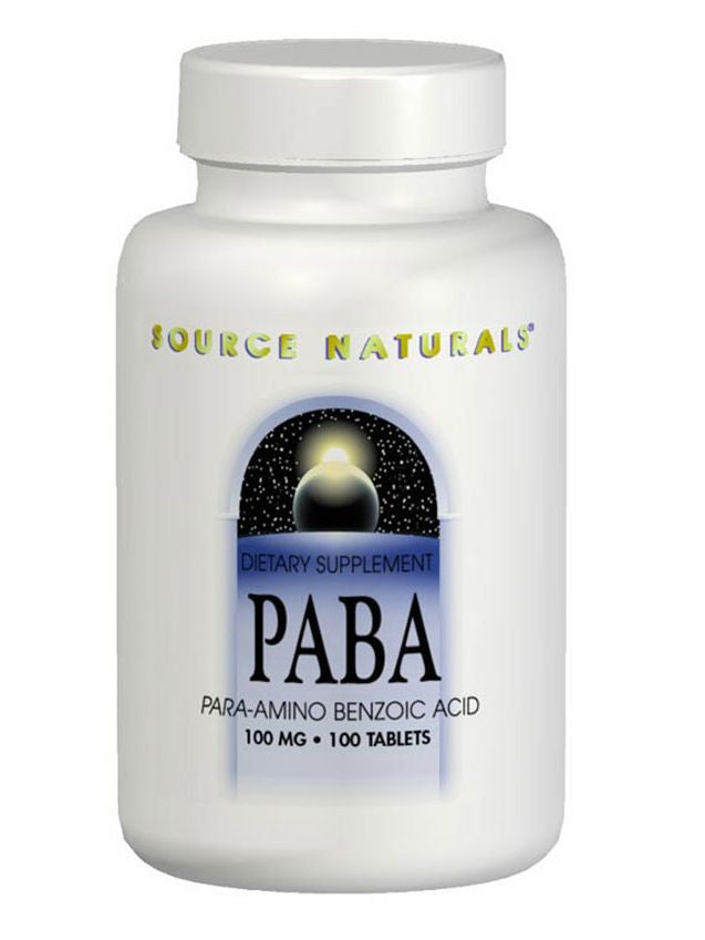 Source Naturals, PABA, 100mg, 250 ct