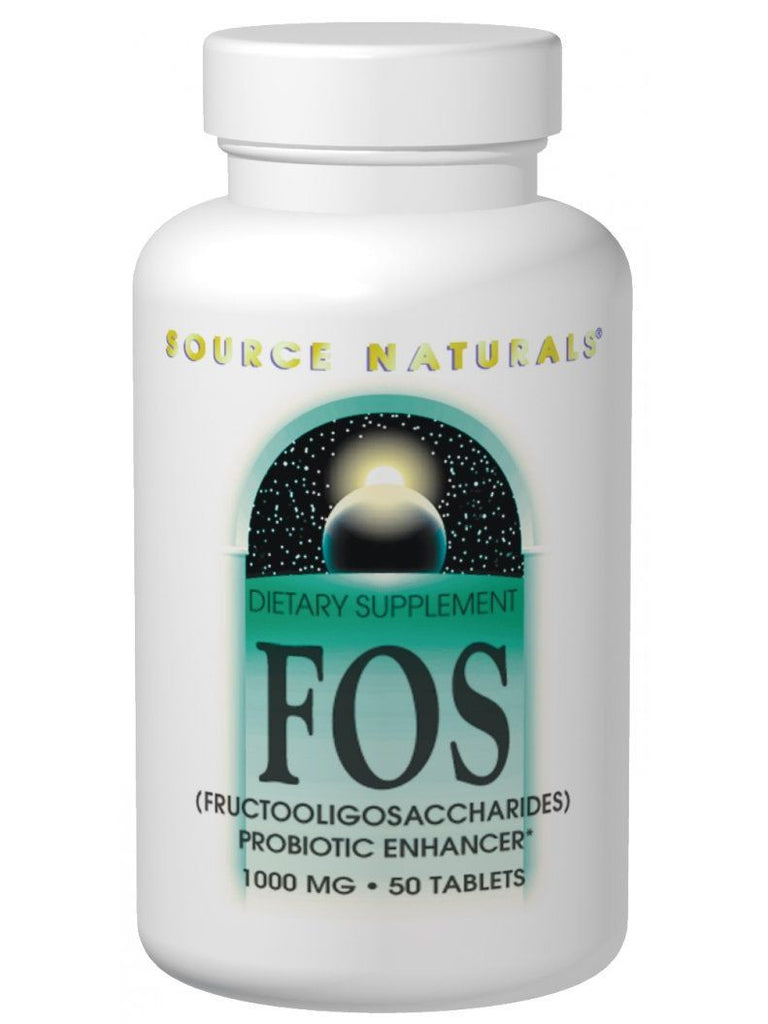 Source Naturals, FOS Fructooligosaccharides, 1000mg, 100 ct