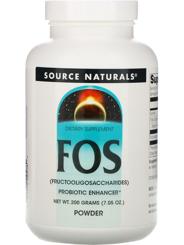 Source Naturals, FOS Fructooligosaccharides powder, 200 GM