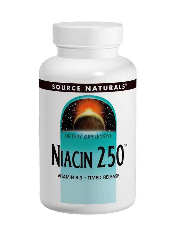 Source Naturals, Niacin Vitamin B-3, 250mg Time Release, 100 ct