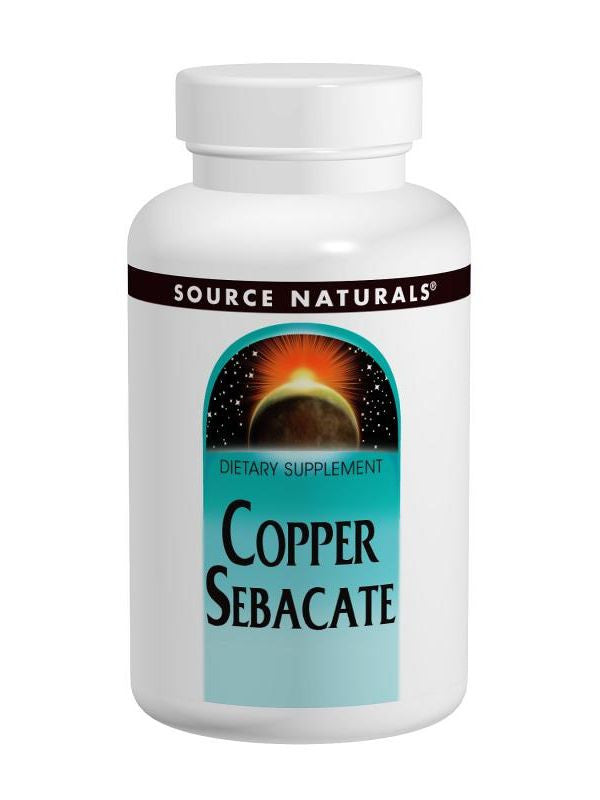 Source Naturals, Copper Sebacate, 22mg, 120 ct