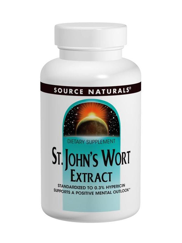 St. John's Wort Standardized Extract, 300mg, 120 ct, Source Naturals