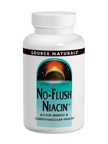 Source Naturals, No-Flush Niacin Vitamin B-3 Inositol Nicotinate, 500mg, 30 ct
