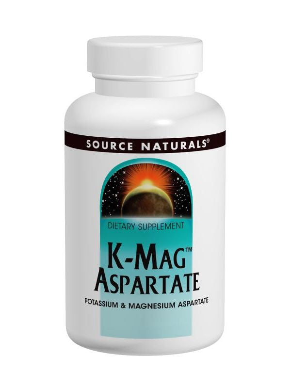 Source Naturals, K-Mag Aspartate Potassium/Mag, 99/75mg, 60 ct