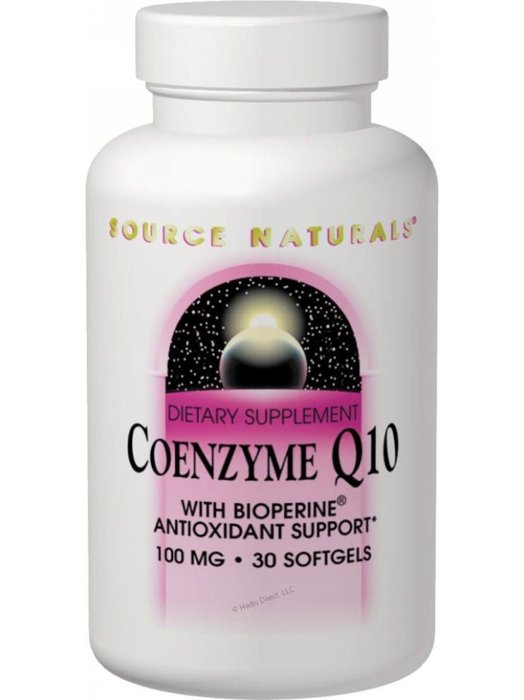 Source Naturals, Coenzyme Q10, 30mg with BioPerine, 120 softgels
