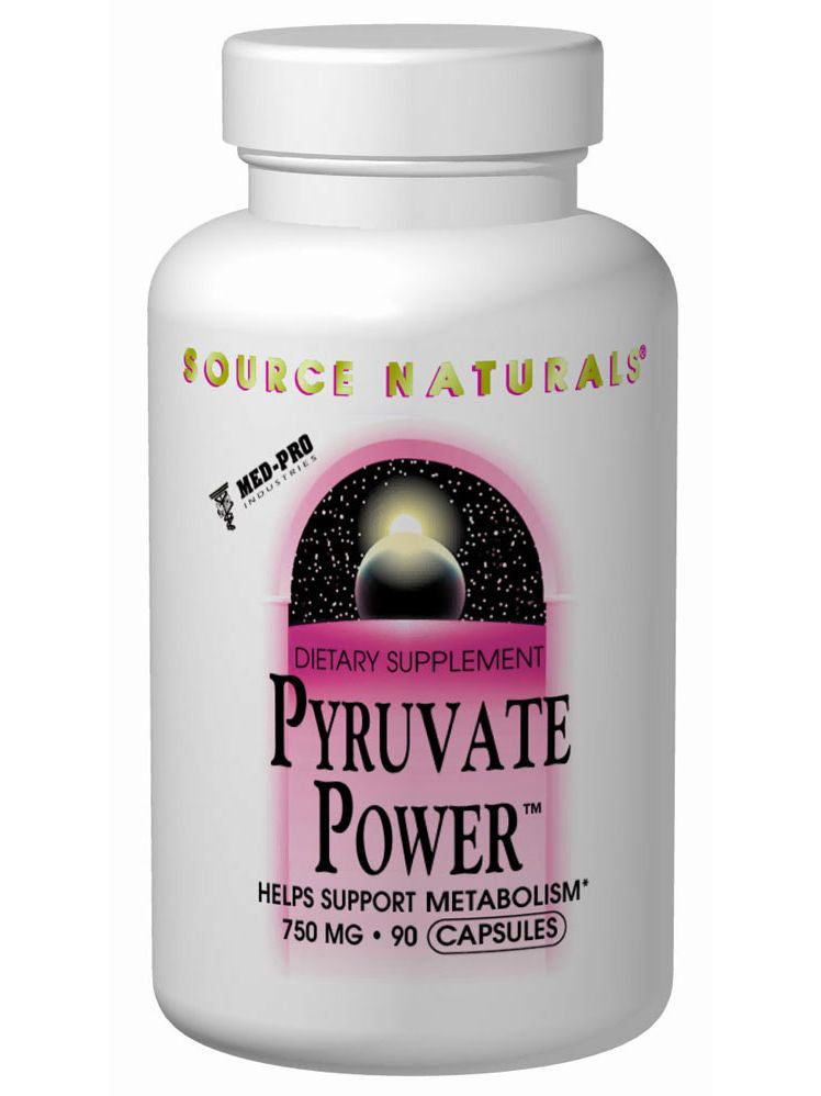 Source Naturals, Pyruvate Power, 750mg, 90 ct